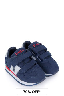 Boys Navy Trainers