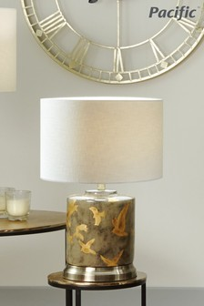 Martins Gold Bird Ceramic Lamp by Pacific Lifestyle