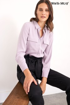White Stuff Purple Isabella Shirt