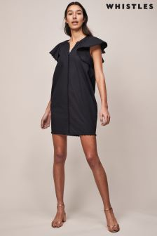 Whistles Frill Sleeve Cover-Up Beach Dress