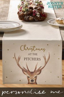 Personalised Stag Table Runner by Jonnys Sister