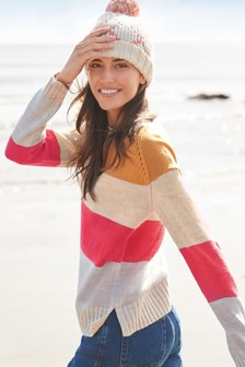 Crew Neck Jumper With Ribbon Wrapping