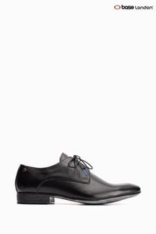 Base London® Black Dansey Waxy Lace-Up Shoes