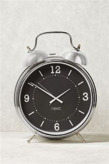 XL Chrome Alarm Clock