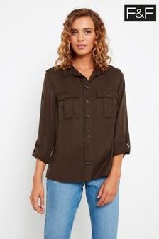 F&F Chocolate Utility Shirt
