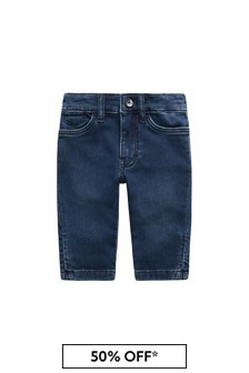 Boss Kidswear Baby Boys Blue Cotton Jeans