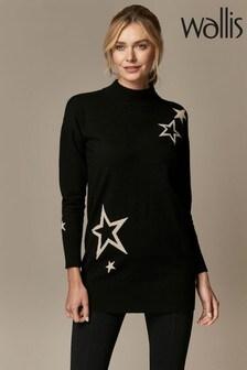 Wallis Black Star Tunic