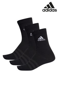 adidas Kids Black Lightweight Crew Socks Three Pack