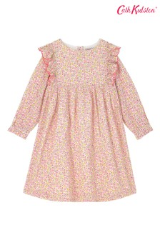 Cath Kidston White Ashbourne Ditsy Frill Dress