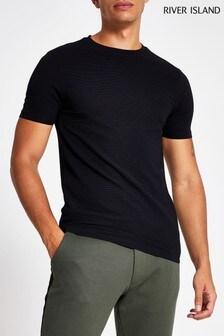 River Island Polyrib Ottoman T-Shirt