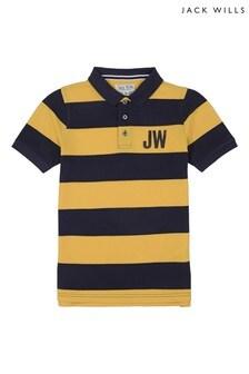 Jack Wills Boys Orange Polo