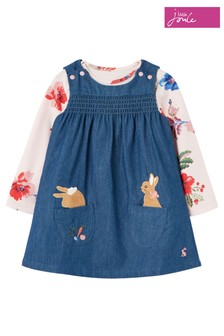 Joules Blue Peter Rabbit Avie Pinafore Dress