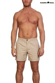 Raging Bull Brown Stretch Chino Shorts