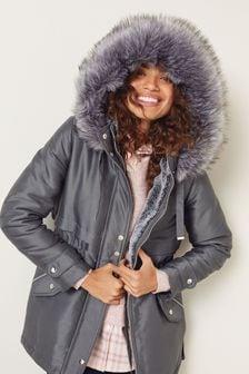 Faux-Fur Hooded Parka