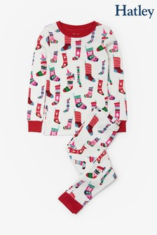 Hatley Natural Holiday Stockings Organic Cotton Pyjama Set