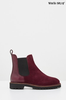 White Stuff Claret Alpine Ankle Boots