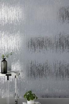 Paste The Wall Foil Stripe Wallpaper