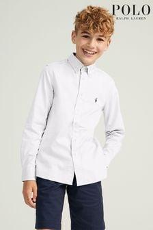 Ralph Lauren White Oxford Logo Shirt