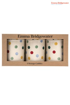 Set of 3 Emma Bridgewater Polka Round Storage Jars