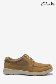 Clarks Tan Combi Leather Cotrell Lane Shoes