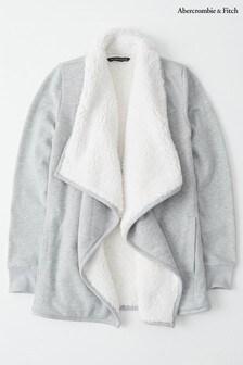 Abercrombie & Fitch Grey Sherpa Cardigan