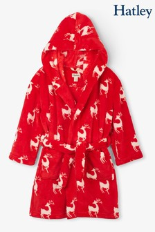 Hatley Red Mistletoe Deer Fleece Robe