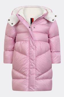 Moncler Enfant Baby Girls Pink Down Padded Vegne Coat
