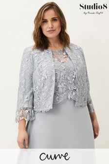 Studio 8 Green Luisa Lace Occasion Jacket