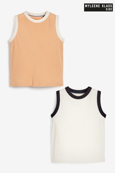Myleene Klass Kids Textured Vests 2 Pack
