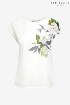 Ted Baker White Woven T-Shirt