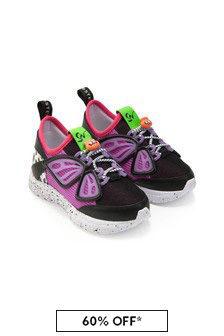 Sophia Webster Girls Black Fly-By Sneakers