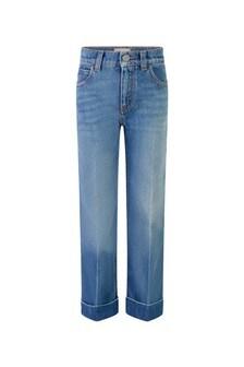 Girls Denim Blue Flared Jeans