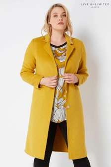Live Unlimited Mustard Boyfriend Coat