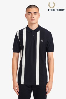 Fred Perry Striped Pique Polo