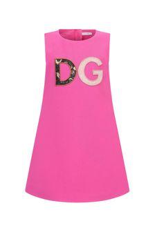Dolce & Gabbana Kids Girls Pink Dress