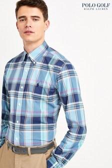 Polo Ralph Lauren Golf Navy Madras Check Shirt