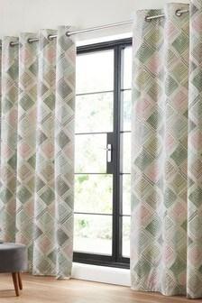 Sketch Geo Eyelet Curtains