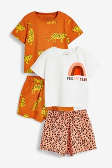 4 Pack T-Shirt And Shorts Set (3mths-7yrs)