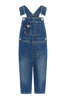 Levis Kidswear Baby Boys Blue Cotton Dungarees