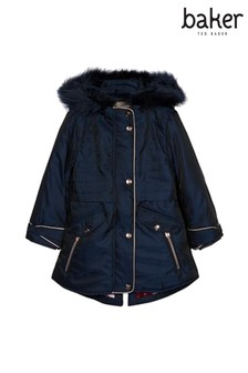 baker by Ted Baker Navy New Parka