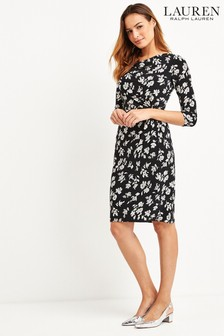 Lauren Ralph Lauren® Black Floral Print Trava Dress