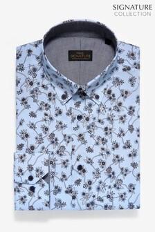 Slim Fit Floral Print Stretch Signature Shirt