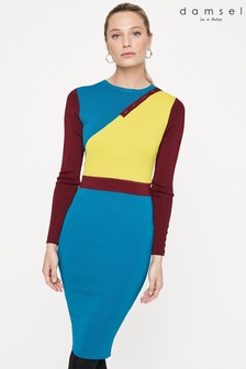 Damsel In A Dress Multi Cliona Colourblock Knit Dress