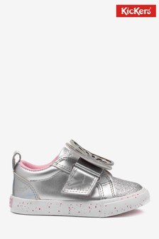 Kickers® Silver Butterfly Trainers