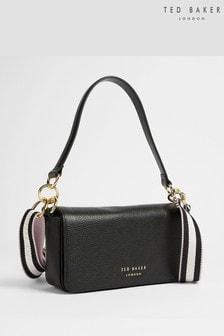 Ted Baker Black Ammie Branded Webbing Strap Box Shoulder Bag