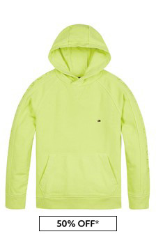 Tommy Hilfiger Lime Cotton Hoodie
