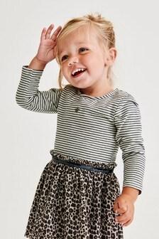 Stripe/Animal Print Dress (3mths-7yrs)