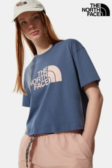 The North Face® Blue Cropped Easy T-Shirt