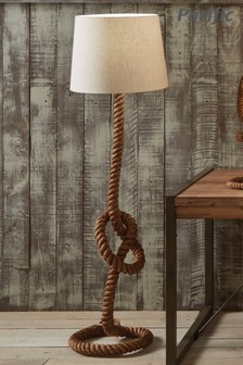 Martindale Rope Knot Floor Lamp With Natural Lamp by Pacific Lifestyle