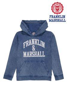 Franklin & Marshall Blue Vintage Arch Overhead Hoody